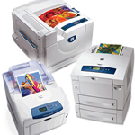 Xerox Color Printers including the Phaser 6100, Phaser 6250, Phaser 7300, Phaser 7750 and Phaser 8400 Printers.