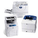 Xerox Black and White Printers including the Phaser 3150, Phaser 3450, Phaser 4500, Phaser 5500 and DocuPrint N4525 Printers.